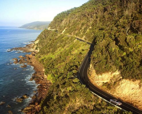 driving on the great ocean road